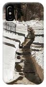 Snow Paths And Winter Shadows IPhone Case