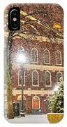 Snow Storm In Faneuil Hall Quincy Market Boston Ma IPhone Case