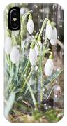 Snowdrops In The Garden Of Spring Rain 7 IPhone Case