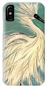 Snowey Egret Tropical IPhone Case