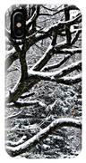 Snowfall And Tree IPhone Case