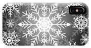 Snowflakes Black And White IPhone Case