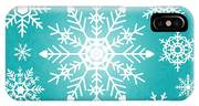 Snowflakes Green And White IPhone Case