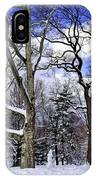 Snowman In Central Park Nyc IPhone Case