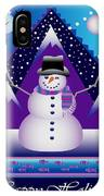 Snowman Juggler IPhone Case