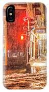 Snowstorm On Tremont Street Boston Ma Park Street Church IPhone Case