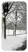 Walking On A Snowy Area IPhone Case