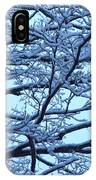 Snowy Branches Landscape Photograph IPhone Case