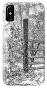Snowy Cattle Gate IPhone Case