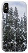 Snowy Christmas At Big Bear Lake IPhone Case