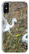 Snowy Egret Confrontation 8664-022018-1cr IPhone Case
