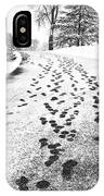 Snowy Footsteps IPhone Case