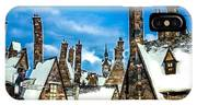 Snowy Hogsmeade Village Rooftops IPhone Case