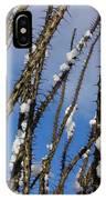 Snowy Ocotillo Sky IPhone Case
