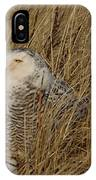 Snowy Owl In Grass IPhone Case