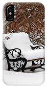 Snowy Park Bench IPhone Case