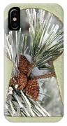 Snowy Pine Keyhole IPhone Case