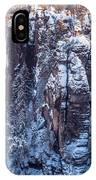Snowy Rocks. Saxon Switzerland IPhone Case
