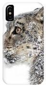 Snowy Snow Leopard IPhone Case