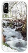 Snowy Stream Landscape IPhone Case