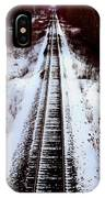 Snowy Train Tracks IPhone Case