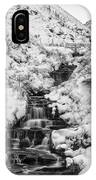 Snowy Waterfall In The Peak District In Derbyshire IPhone Case