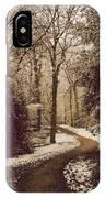 Snowy Woodland Walk One IPhone Case