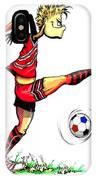 Soccer Striker IPhone Case
