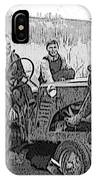 Social Gathering At The Tractor IPhone Case