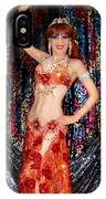 Sofia Metal Queen - Belly Dancer Model At Ameynra IPhone Case