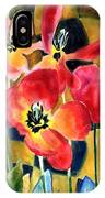 Soft Quilted Tulips IPhone Case