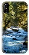 Sol Duc River Above The Falls - Washington IPhone Case