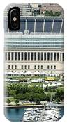 Soldier Field Stadium In Chicago Aerial Photo IPhone Case