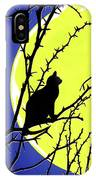 Solitary With Golden Moon IPhone Case