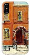 Solomons Temple Montreal Bagg Street Shul IPhone Case