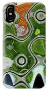 Some Pink And Green Abstract IPhone Case