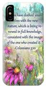 Song Of The Flowers With Bible Verse IPhone Case