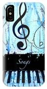 Songs - Blue IPhone Case