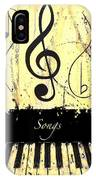 Songs - Yellow IPhone Case