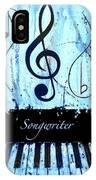 Songwriter - Blue IPhone Case