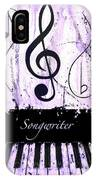 Songwriter - Purple IPhone Case