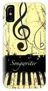 Songwriter - Yellow IPhone Case