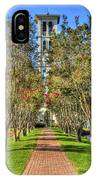 Sounds Of Victory The Bell Tower Furman University Greenville South Carolina Art IPhone Case
