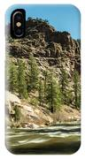 South Platte In Heavy Spring Flows And Wind IPhone Case