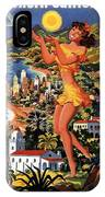 Southern California - United Air Lines - Retro Travel Poster - Vintage Poster IPhone Case