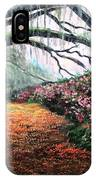 Southern Charm Oak And Azalea IPhone Case
