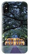 Southern Manor Home At Night IPhone Case