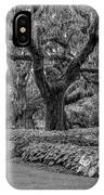 Southern Oaks In Black And White IPhone Case
