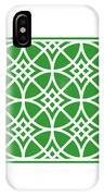 Southwestern Inspired With Border In Dublin Green IPhone Case