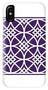 Southwestern Inspired With Border In Purple IPhone Case